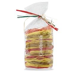"""Casa Rinaldi """"Taglierini Alba"""" trijų spalvų kiaušininiai makaronai"""