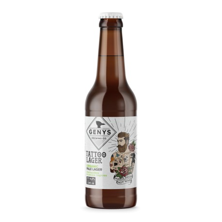 """24 bt. alaus Genys """"Organic Tattoo Lager"""" Pale Lager"""